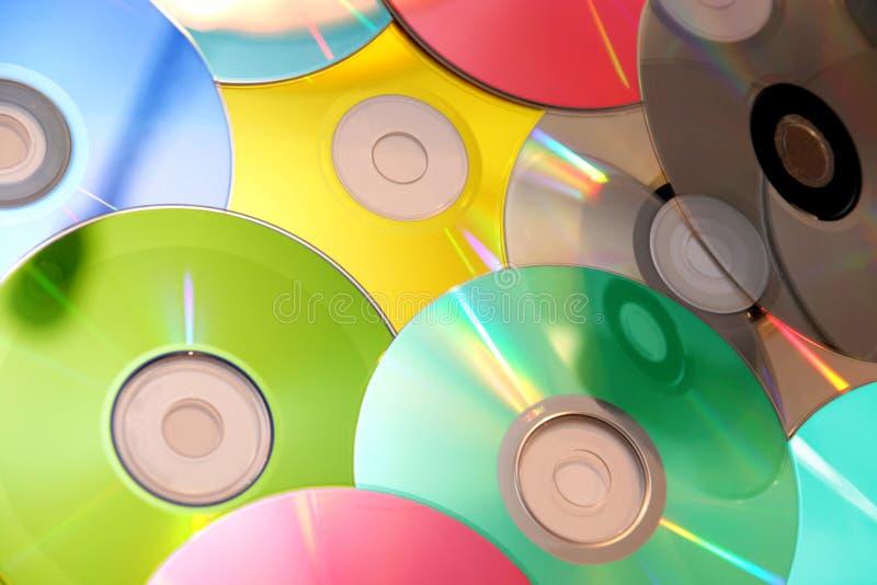 компактный диск цветастый стоковое фото rf
