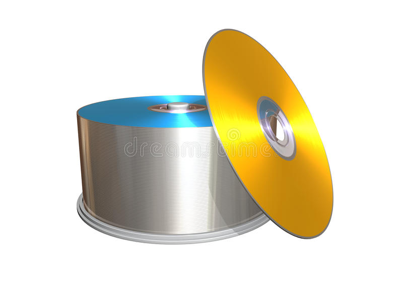 компактный диск иллюстрация вектора