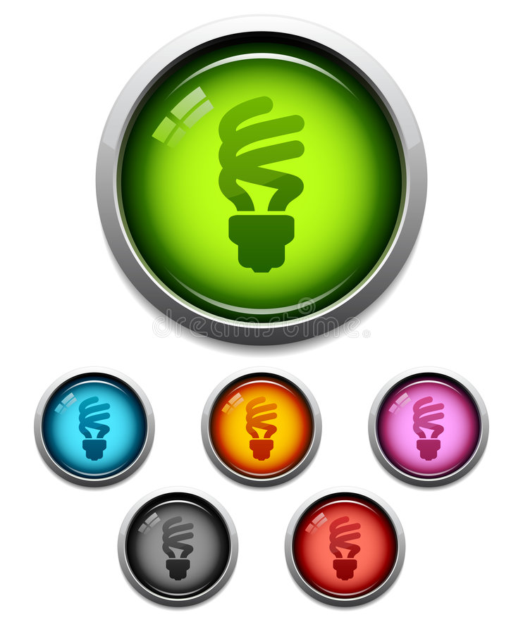 компактный дневной lightbulb иконы иллюстрация штока