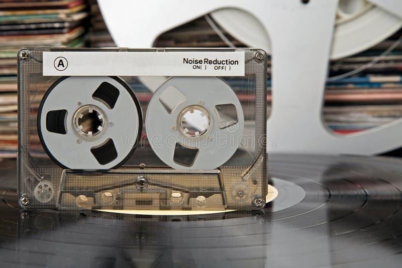 компакт кассеты другие времена вещества стоковое фото