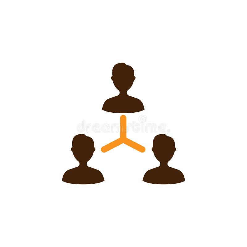Компания, значок соединений Элемент значка оптимизирования сети для мобильных приложений концепции и сети Детальн Компания, значо иллюстрация штока