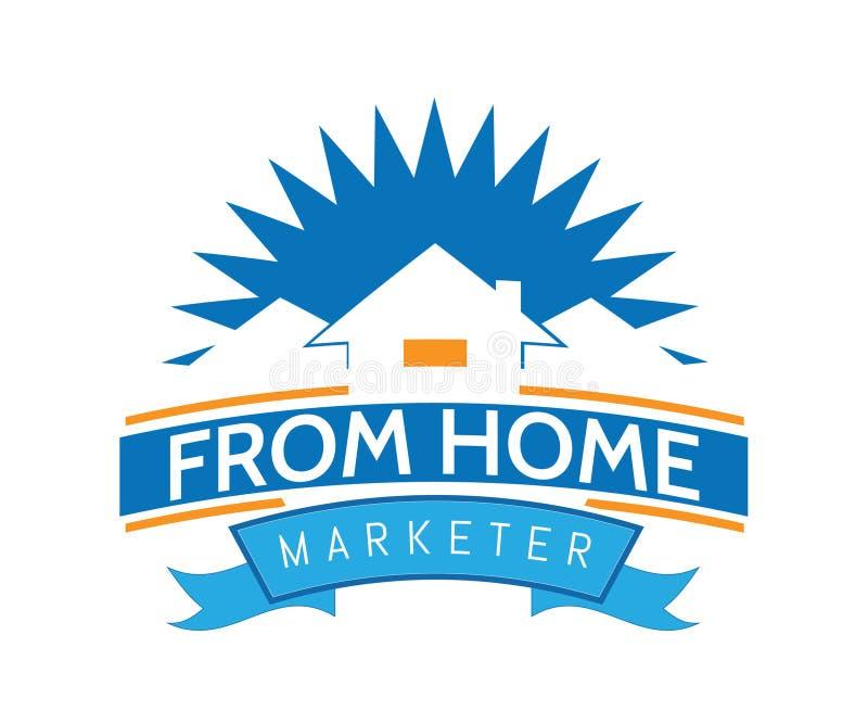 Компания имущества логотипа дома по-настоящему в стиле потехи бесплатная иллюстрация