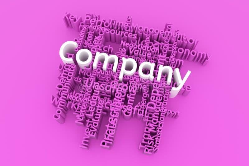 Компания, ключевое слово дела и слова заволакивают Для интернет-страницы, графического дизайна, текстуры или предпосылки r иллюстрация вектора