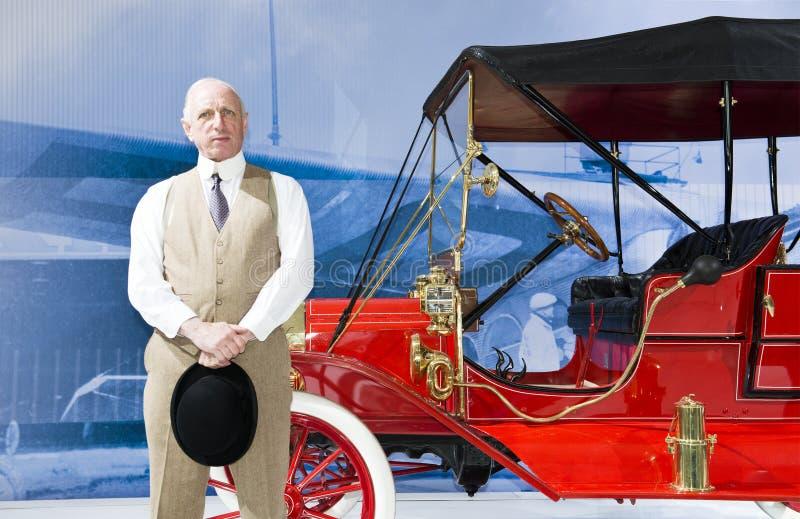 Компания компании Форд Мотор, имитатор Генри Форда стоковые фото