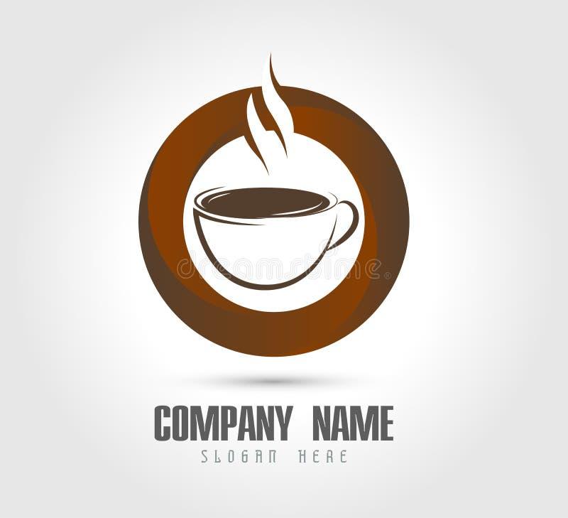 Компания кофе или логотип бара бесплатная иллюстрация