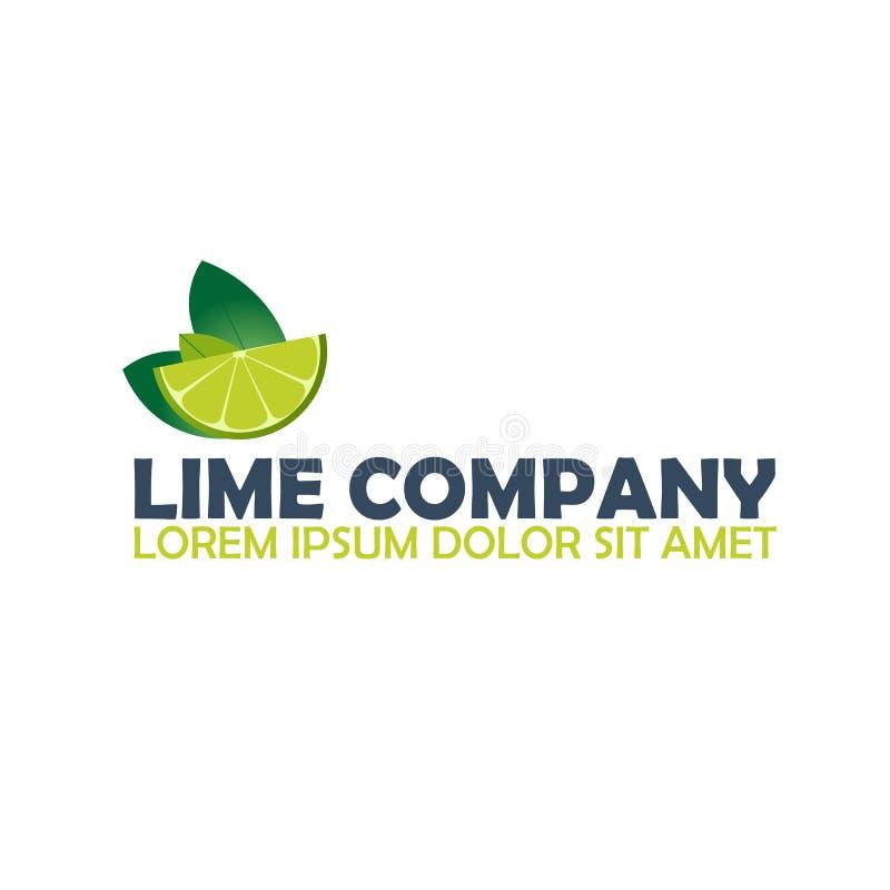 Компания логотипа известки Цитрус Иллюстрация логотипа вектора иллюстрация штока