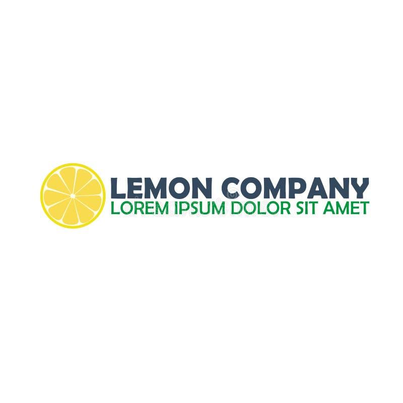 Компания логотипа лимона Цитрус Иллюстрация логотипа вектора иллюстрация вектора