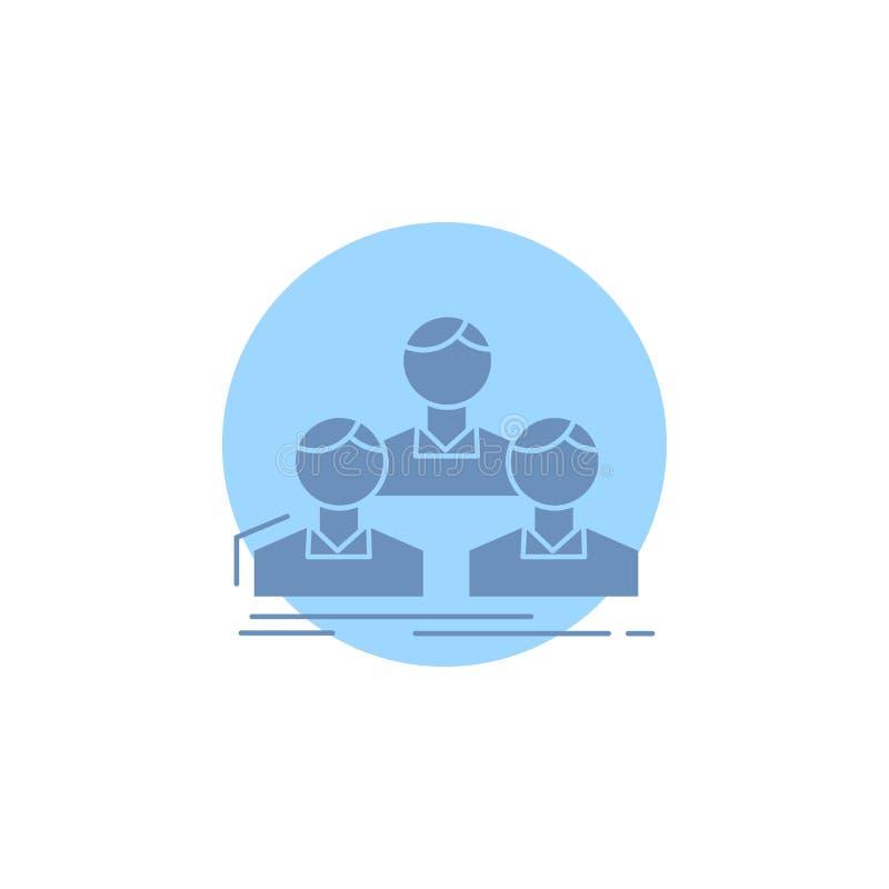 Компания, работник, группа, люди, значок глифа команды иллюстрация штока