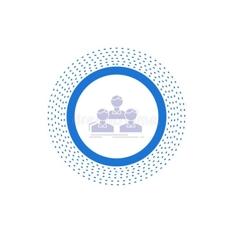 Компания, работник, группа, люди, значок глифа команды r иллюстрация штока