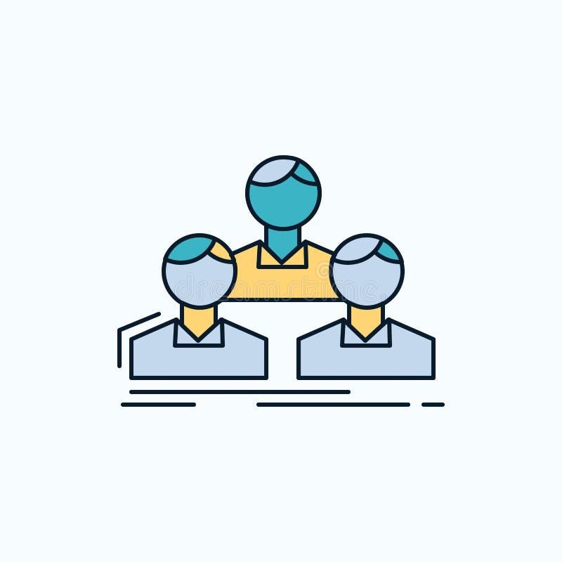 Компания, работник, группа, люди, значок команды плоский r r иллюстрация штока