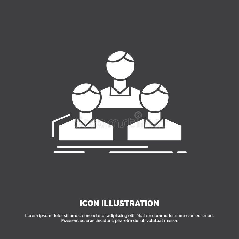 Компания, работник, группа, люди, значок команды r иллюстрация вектора