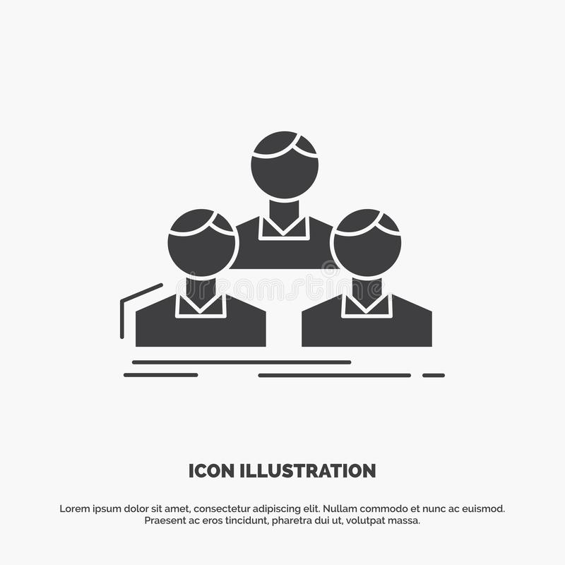 Компания, работник, группа, люди, значок команды r иллюстрация штока
