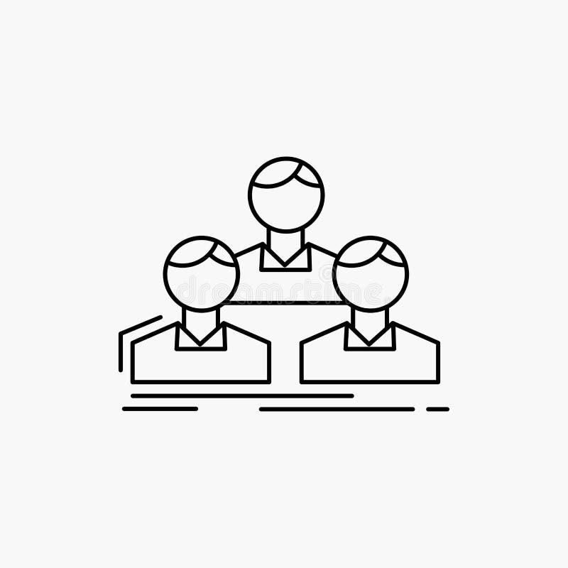 Компания, работник, группа, люди, линия значок команды r иллюстрация штока