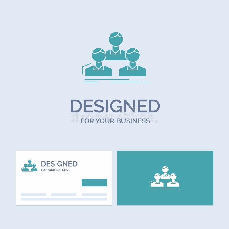 Компания, работник, группа, люди, символ значка глифа логотипа дела команды для вашего дела r иллюстрация вектора