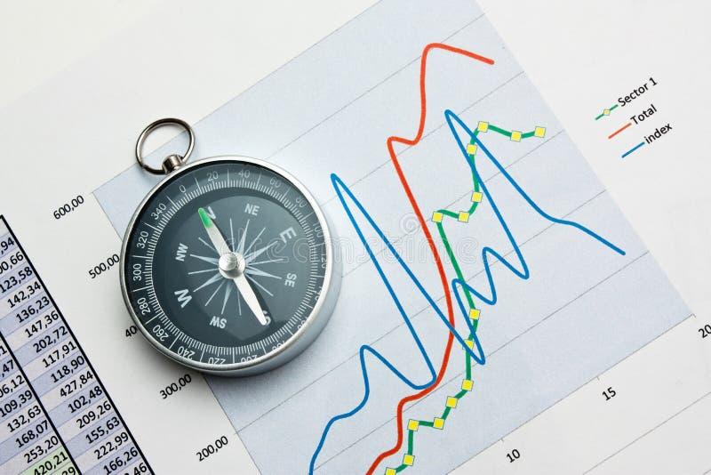 компас и обработка документов стоковое изображение rf