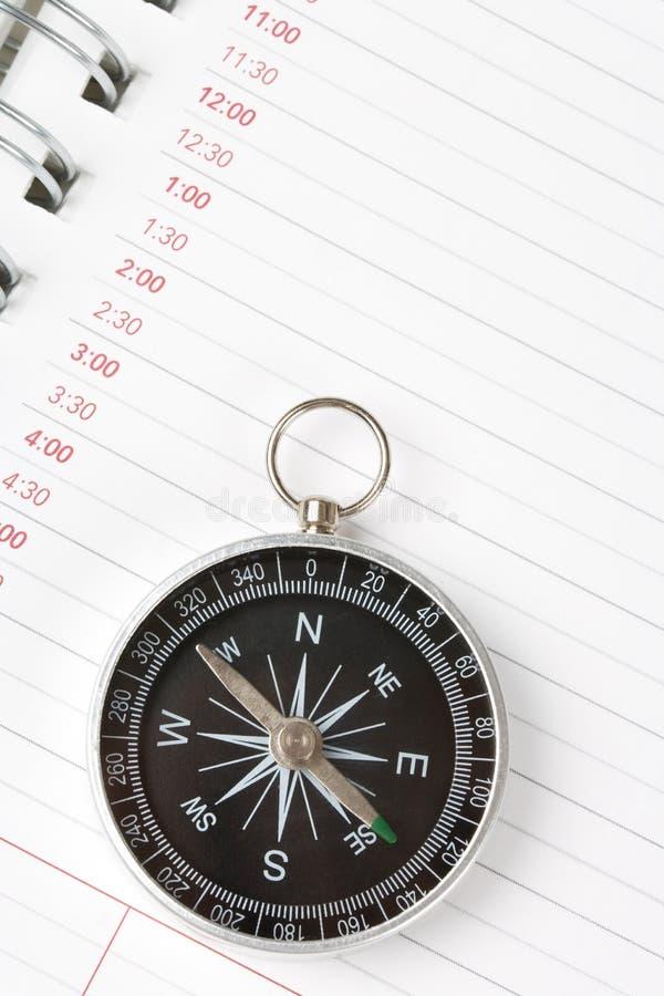 компас календара повестки дня стоковая фотография rf
