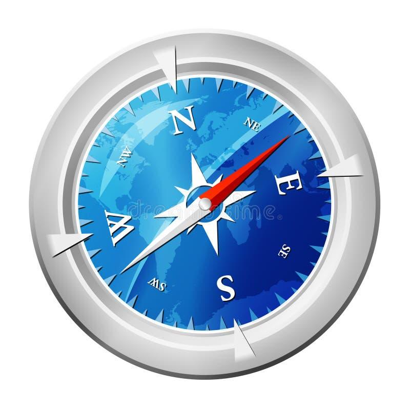 компас лоснистый иллюстрация вектора