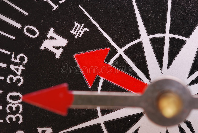 компас магнитный стоковое изображение