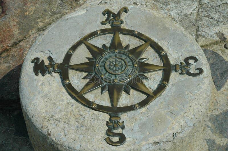компас неподвижный стоковое фото