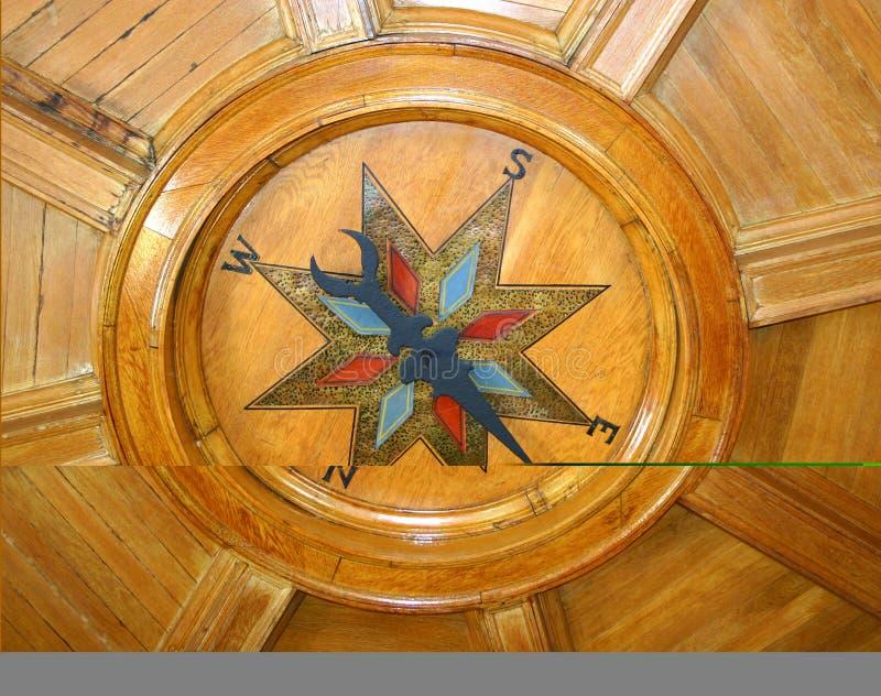 компас потолка стоковая фотография