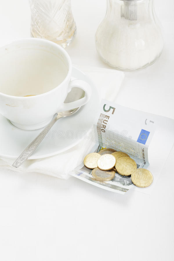 компенсация кофе кредитки стоковое изображение rf