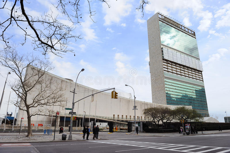 комплекс города размещает штаб нации новый соединенный york стоковое фото rf