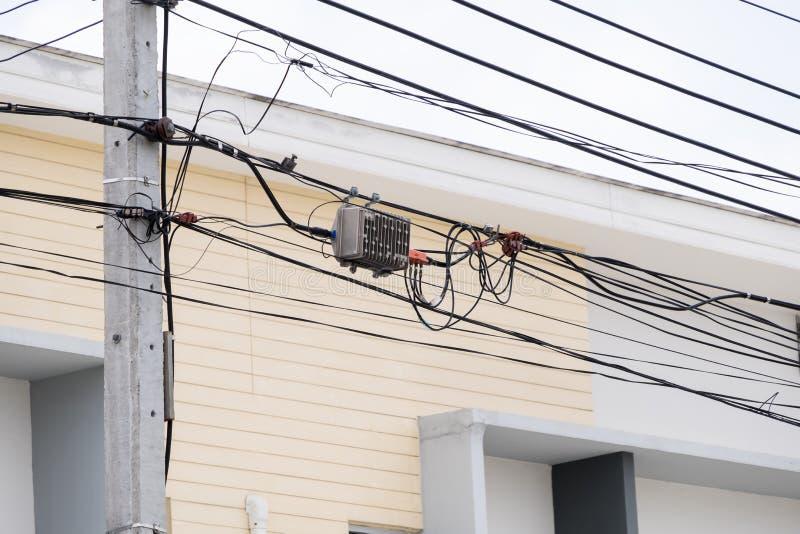 Комплекс кабеля связи стоковые изображения rf