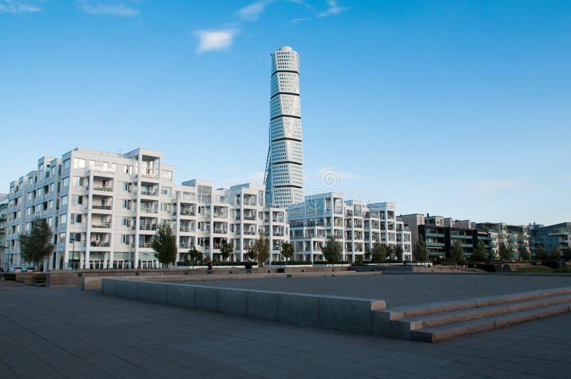 Комплекс резиденции Malmö с поворачивая торсом стоковая фотография rf