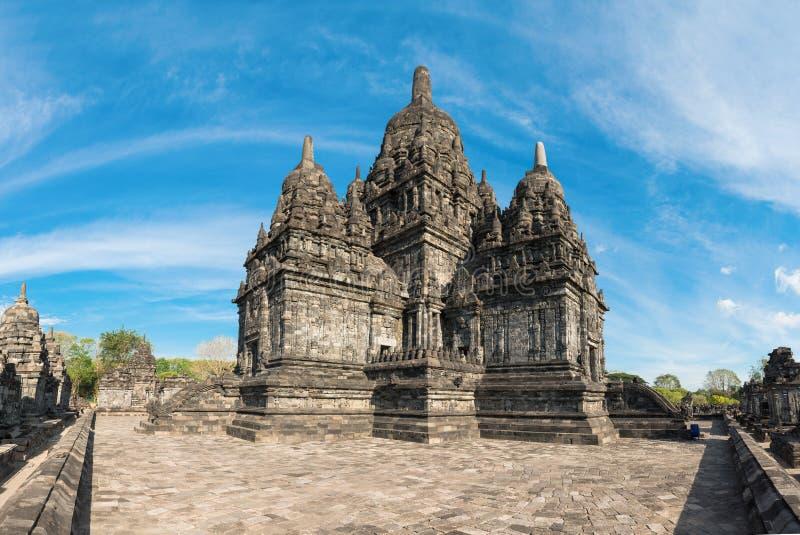 Комплекс Candi Sewu буддийский в Java, Индонезии стоковые изображения rf