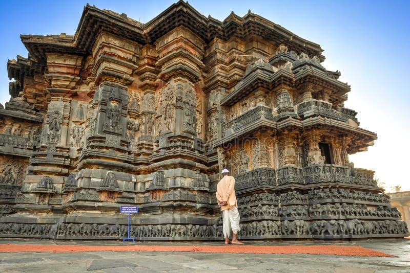 Комплекс Chennakeshava, Belur, Индия стоковая фотография