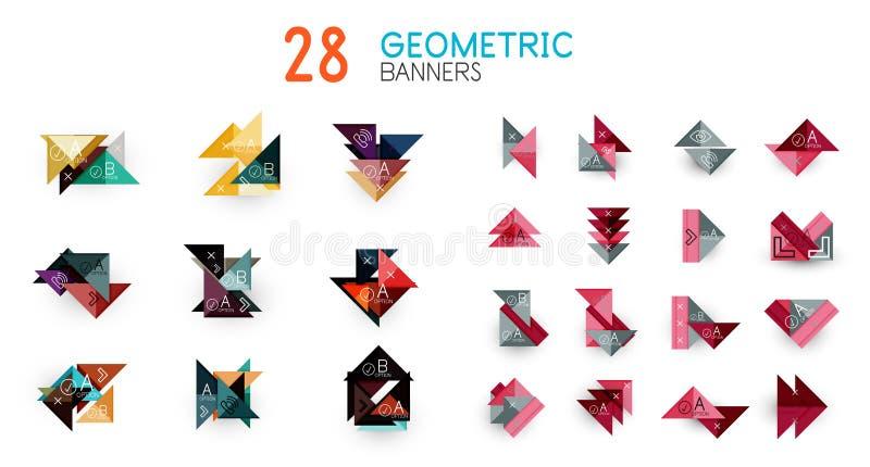 Комплект абстрактных геометрических форм и значков бесплатная иллюстрация