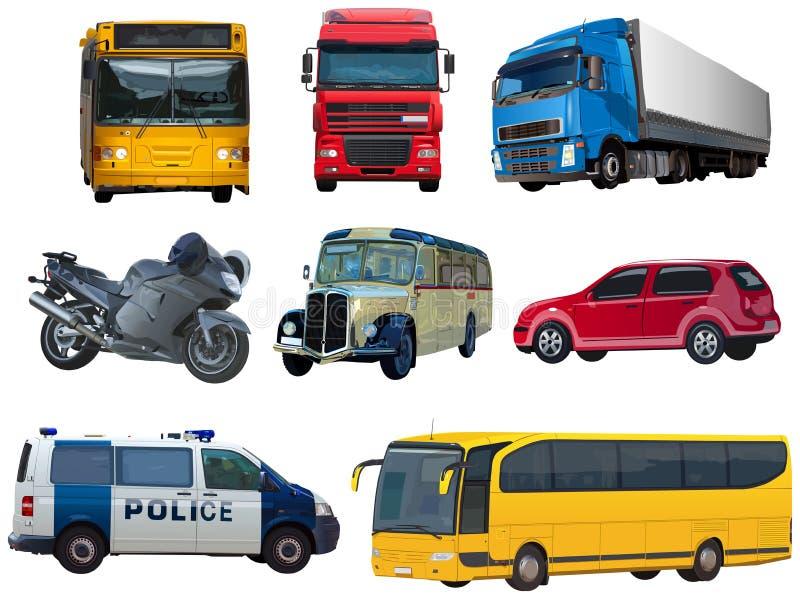 Комплект автомобилей бесплатная иллюстрация
