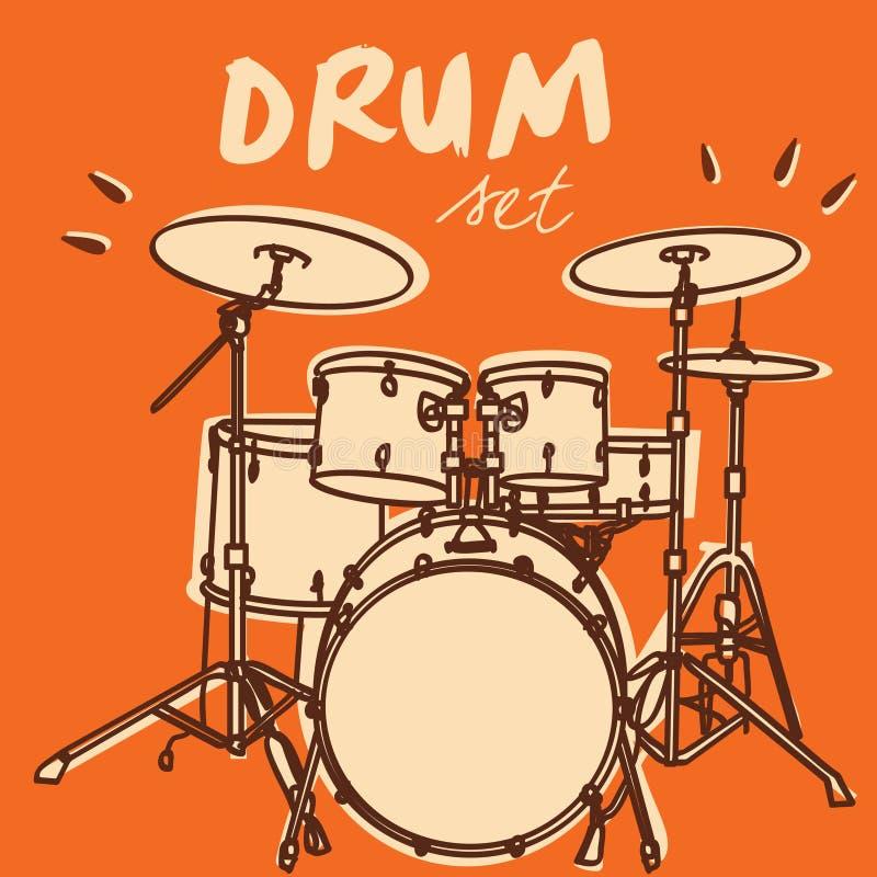 комплект барабанчика бесплатная иллюстрация