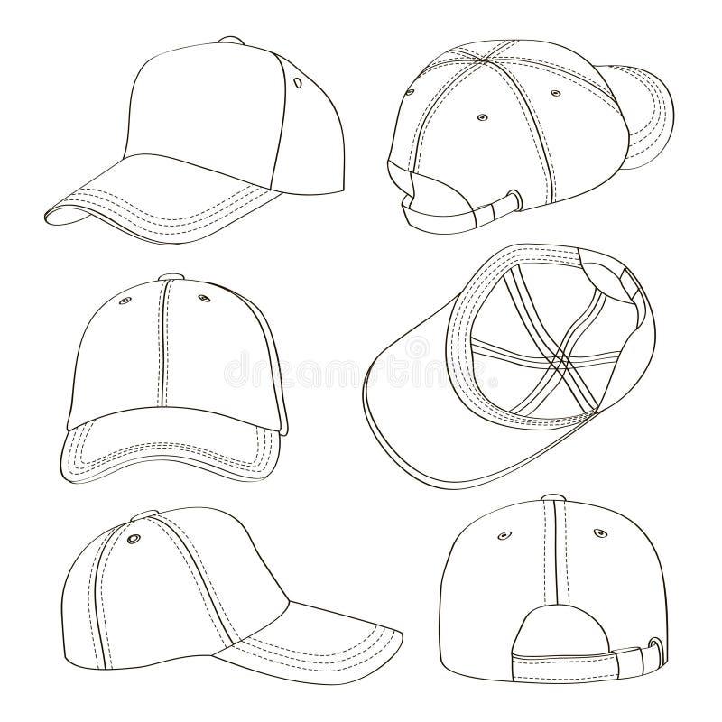 Комплект бейсбольной кепки иллюстрация вектора