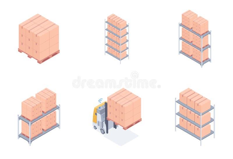 Комплект блоков склада бесплатная иллюстрация