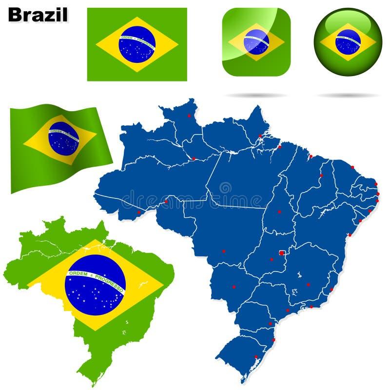 комплект Бразилии иллюстрация штока