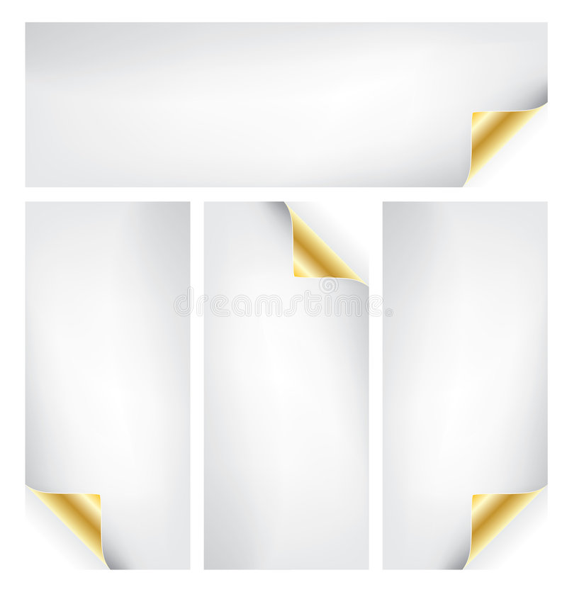 комплект бумаги скручиваемости иллюстрация вектора