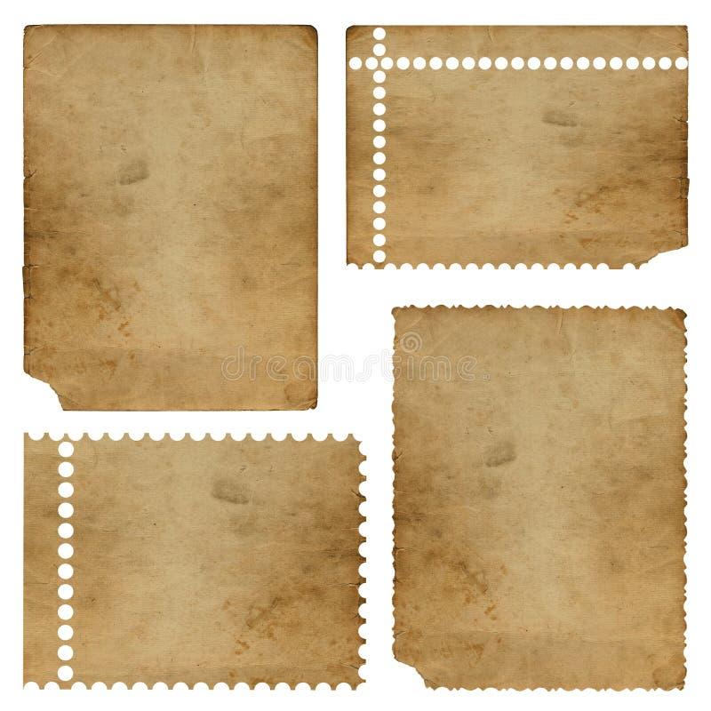 комплект бумаги grunge старый иллюстрация вектора