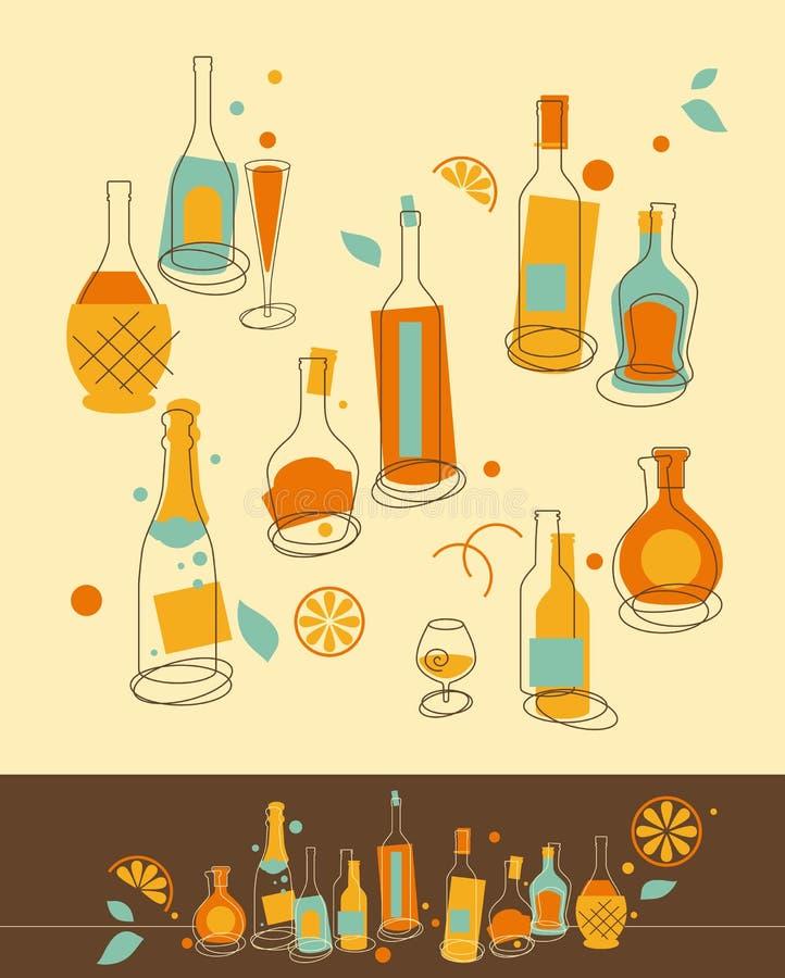 комплект бутылки бесплатная иллюстрация