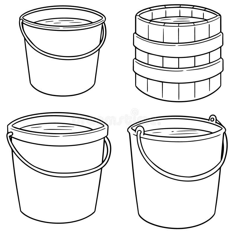 Комплект вектора ведер воды бесплатная иллюстрация