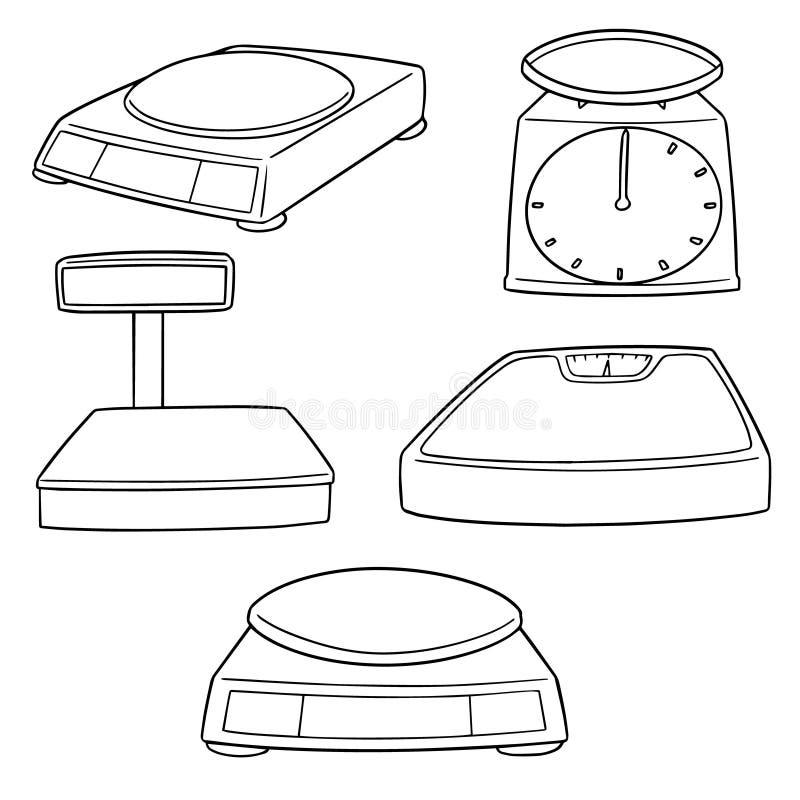 Комплект вектора веся машин иллюстрация штока