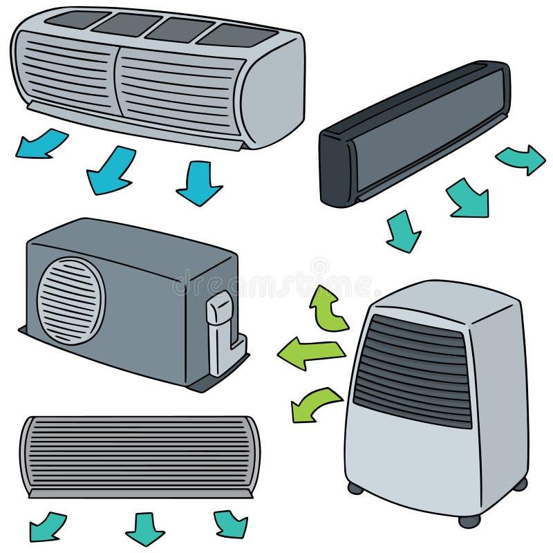 Комплект вектора кондиционера воздуха бесплатная иллюстрация