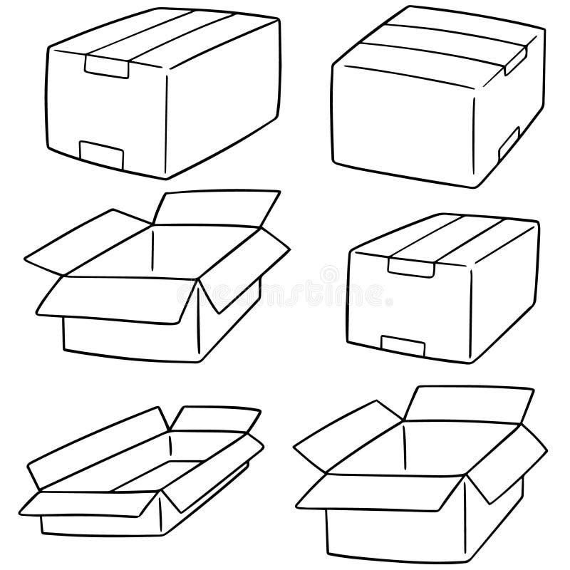 комплект вектора коробки иллюстрация вектора