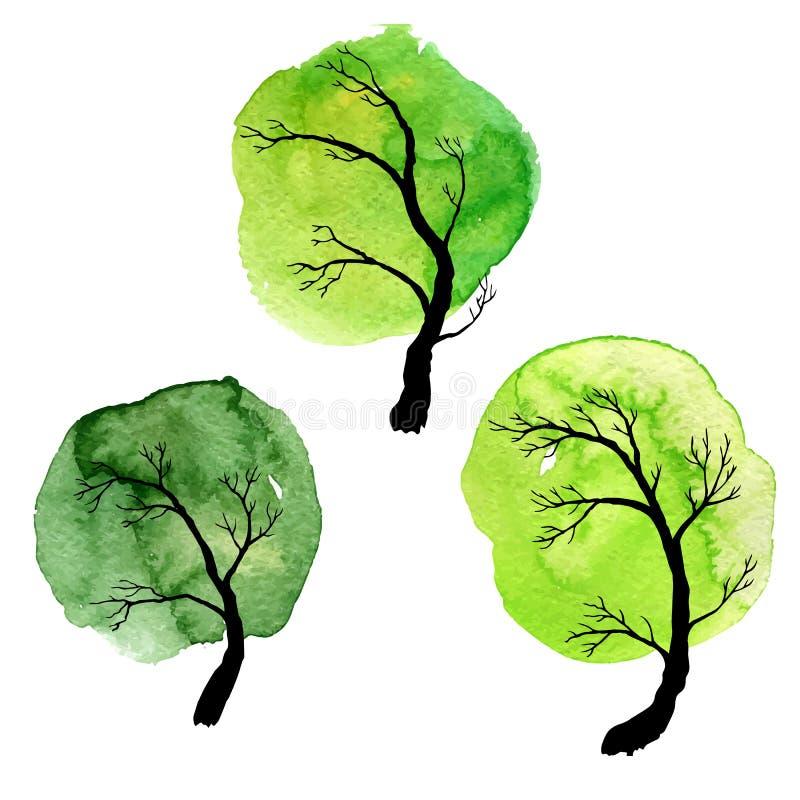 Комплект вектора лиственных деревьев бесплатная иллюстрация