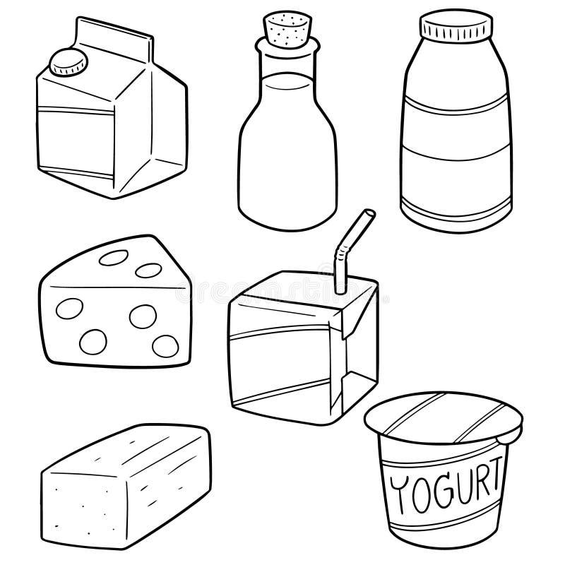Комплект вектора молочного продукта бесплатная иллюстрация