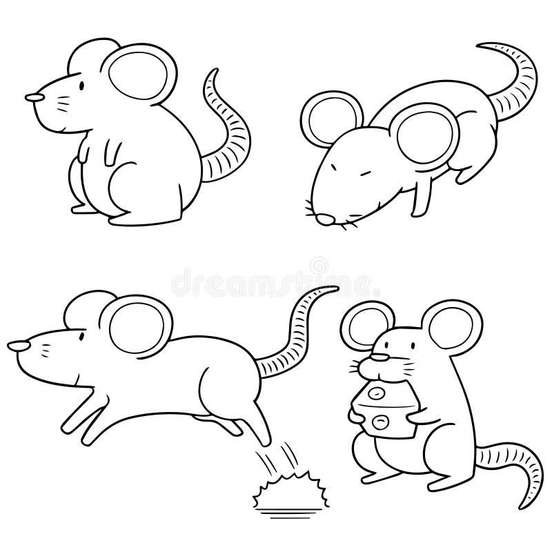 Комплект вектора мыши бесплатная иллюстрация