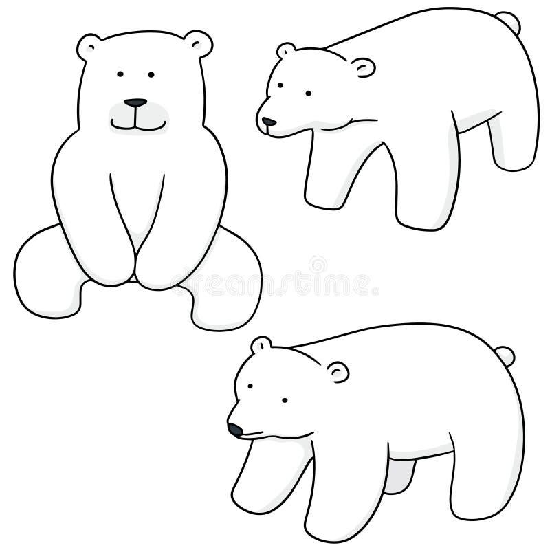 Комплект вектора полярного медведя иллюстрация вектора