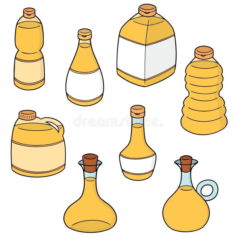 Комплект вектора постного масла бесплатная иллюстрация
