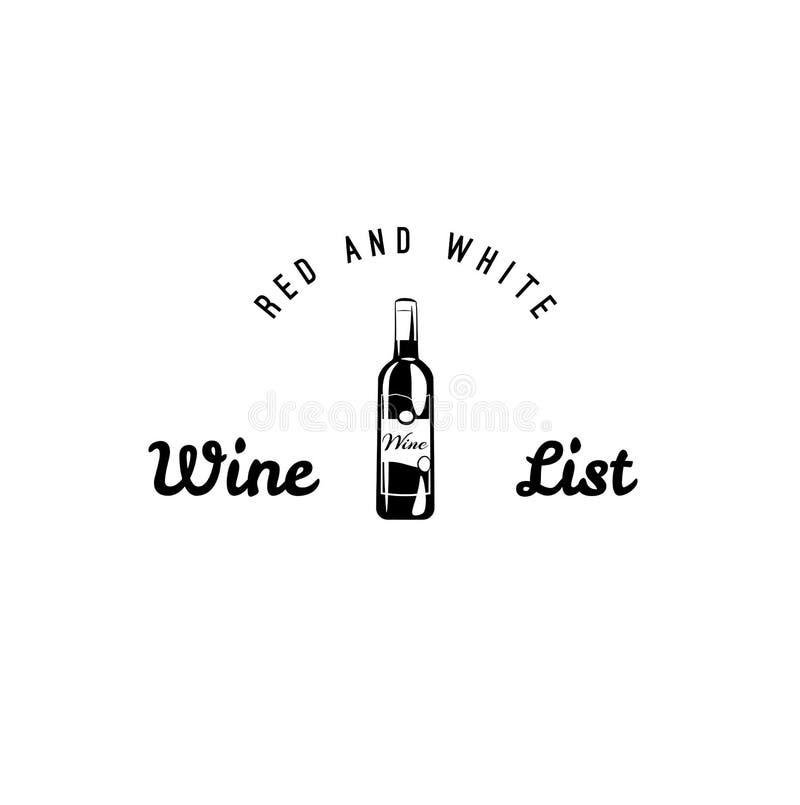 Комплект вектора ярлыков вина черно-белых Иллюстрация вектора винной карты винтажная изолированная на белой предпосылке бесплатная иллюстрация