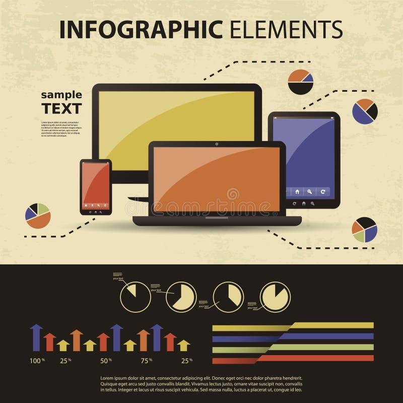 Комплект вектора infographic элементов иллюстрация вектора
